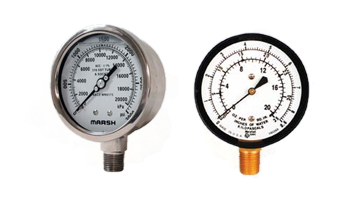 King-Mechanical-Specialty-Marsh-Bellofram-Pressure-Gauges